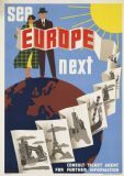 See Europe Next. Vintage European Travel Art Print/Poster. Sizes: A4/A3/A2/A1 (003445)